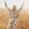 Ethically made sustainable silver birch art leggings
