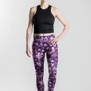 Snowbed willow – Gironlasta dark lily leggings