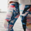 sustainable fairy tale leggings with weeping birch art