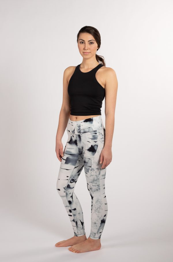 ethically made sustainable leggings with art from Finland