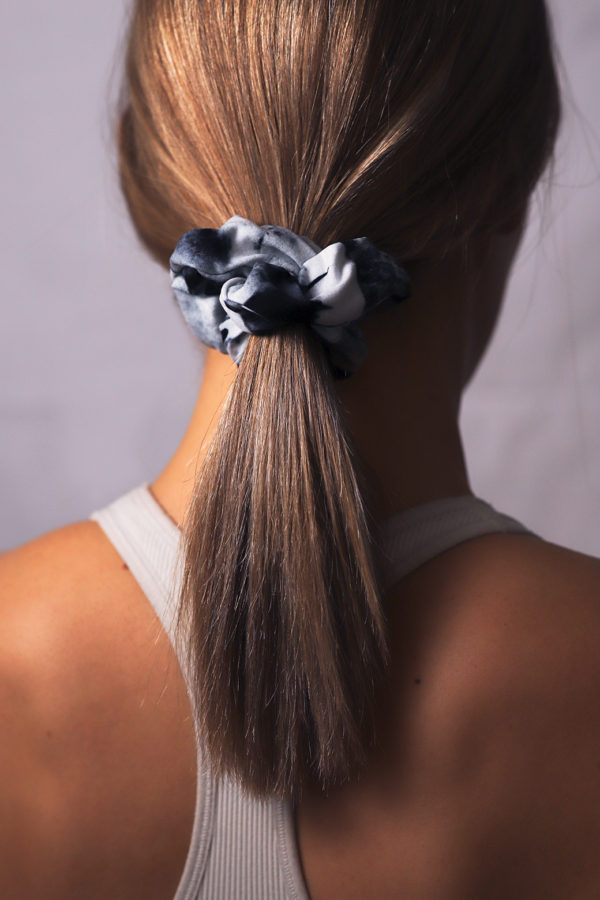 silver birch art scrunchie